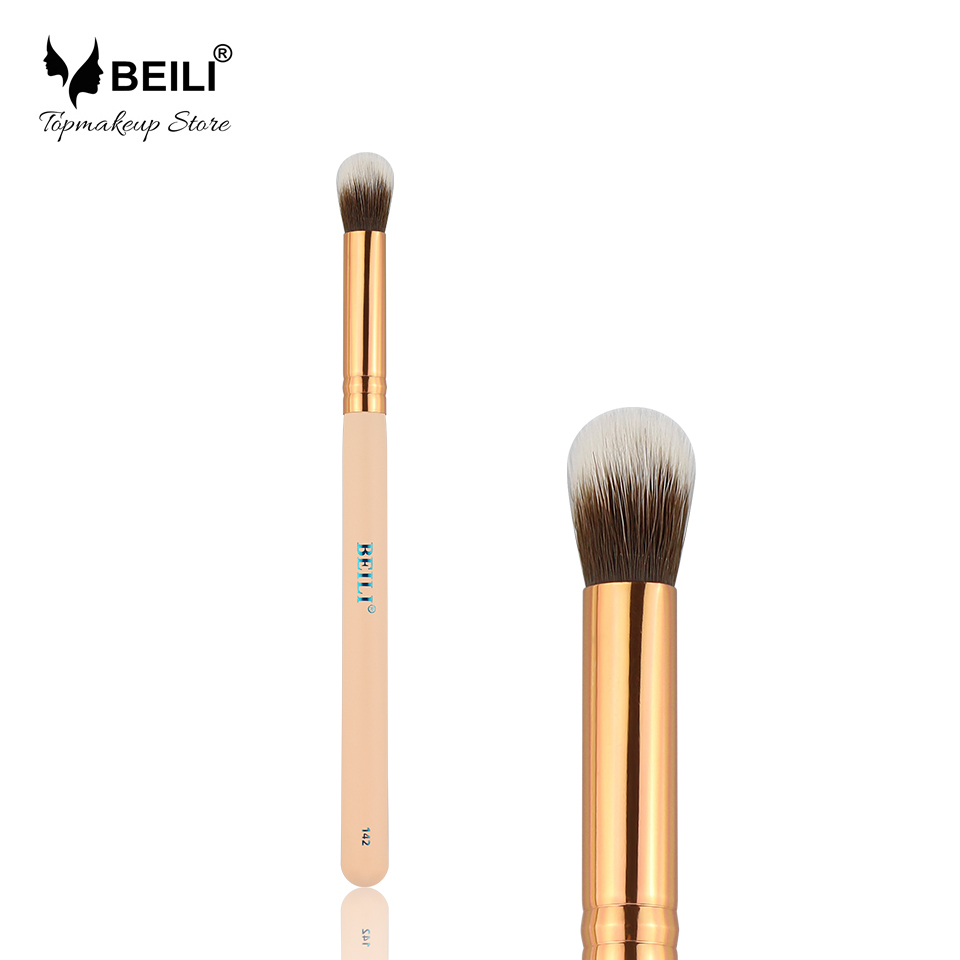 купить BEILI 142# Essential Rose Golden Ferrule Round shapeSoft Synthetic Hair Concealer Buffer Makeup Brushes по цене 82.3 рублей