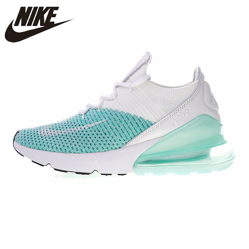 the latest f0c17 a70c8 NIKE AIR MAX 270 FLYKNIT Women s Running Shoes, White   Blue, Non-slip