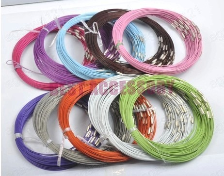 conew_memory wire cord necklace choker00126