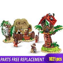 XINGBAO 15005 Genuine 1021Pcs Man vs. Wild Primitive Tribe Building Blocks Bricks Toys As Funny Boy Gifts Compatible With LOGO