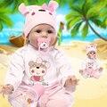 Reborn baby dolls 22 pulgadas de silicona suave muñecas realistas realista Lindo Recién Nacido Baby Alive Muñeca de Juguete Embroma El Regalo gratis