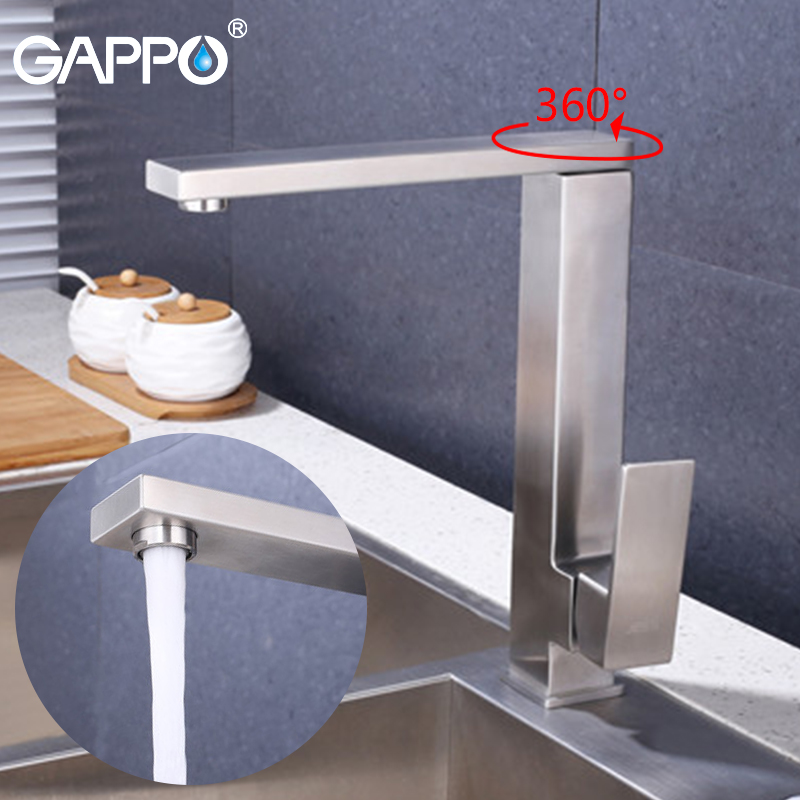 купить GAPPO kitchen faucet Sink Mixer Tap brass kitchen water mixers Single Handle deck mounted faucets недорого