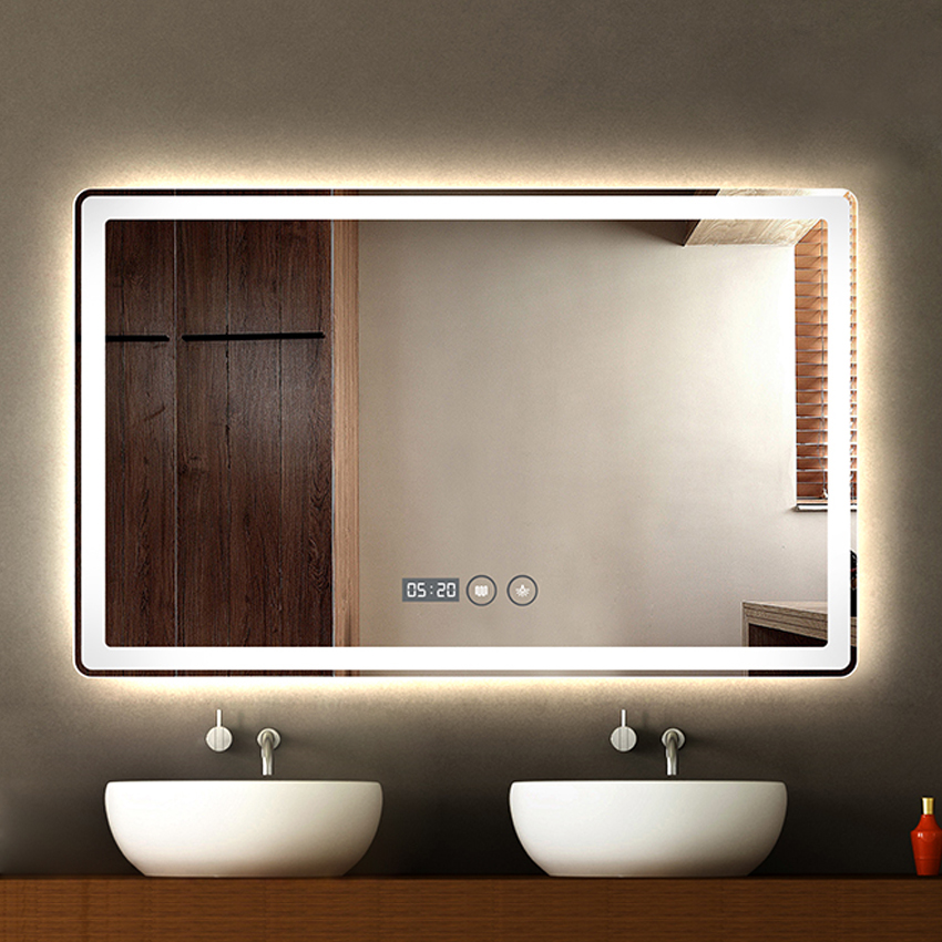 Led smart mirror for the bathroom.