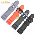 silicone rubber watch strap waterproof watchband width 24mm 26mm soft and comfortable bracelet Watch black orange gray green