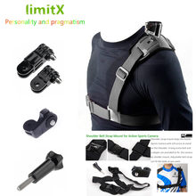 limitX Chest Shoulder Strap Harness Single for XIAOMI Mijia Panoramic 360 Camcorder / Xiaomi Mijia Mini 4K Action Cam(China)
