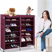 Homdox 6 Layer 12 Grid Portable Home Shoe Rack Shelf Shoe Storage Closet Furniture Organizer Cabinet N20*