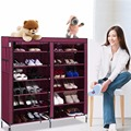 6 Layer 12 Grid Portable Home Shoe Rack Shelf Shoe Storage Closet Organizer Cabinet