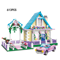 2018 City Street View Marriage Room Building Block Bride and Groom Figures Cars legoing Bricks Educational Toys for Girls Gifts