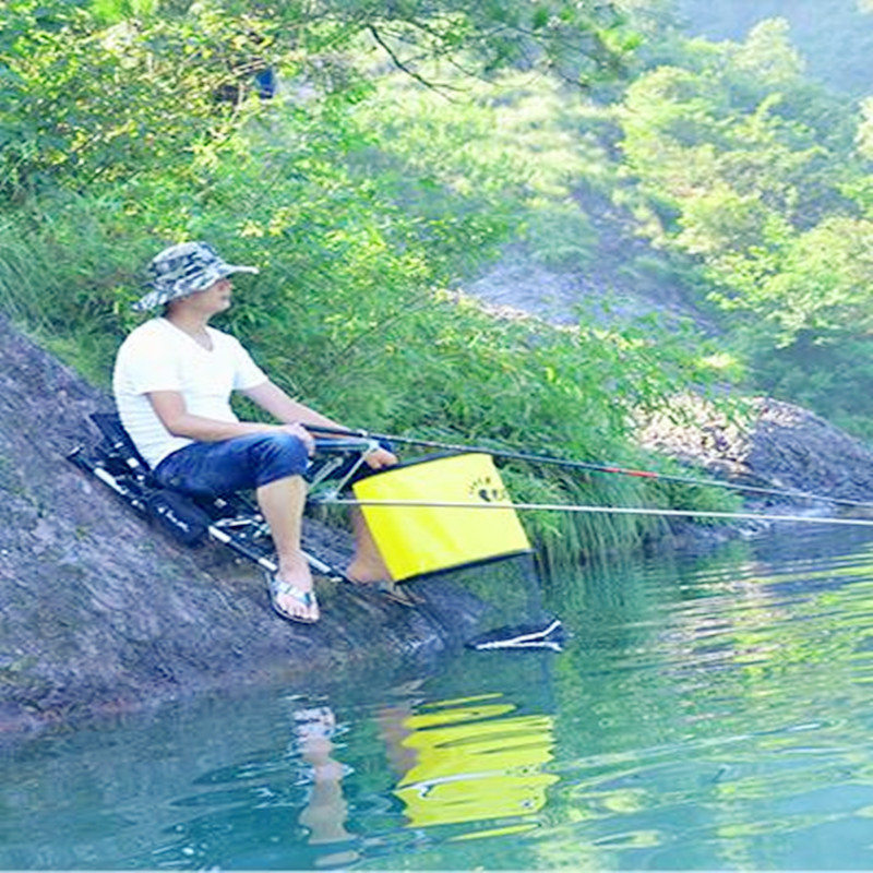 2018 new folding fishing chair portable fishing box light multi-purpose backpack beach chairs with Retractable feet 2018 new folding fishing chair portable fishing box light multi purpose backpack beach chairs