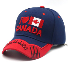 New I Love Canada National Flag Baseball Cap Men and Women Hat 4 Style 2019 Hot Sale