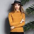 ALKMENE Fashion Diamonds Design Women Cashmere Sweater Tturn-down Collar Women Sweater Pullover Sweater Pullover Casual Tops