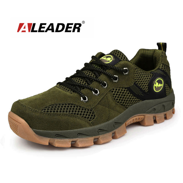 Outdoor Shoes Men Spring Summer Breathable Climbing Hiking Shoes Sport Sneakers Trainers Trekking Shoes Walking Tenis Masculino