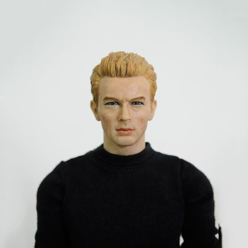 ФОТО 1/6 Scale Male Blond Hair Head Sculpts Popular 13-48 Man Head Carving Model Toys For 12