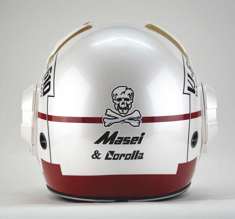 Cá tính xe máy đội mũ bảo hiểm nam sắt 0 người đàn ông các, cao cấp off-road xe máy Macross Retro Chính Hãng