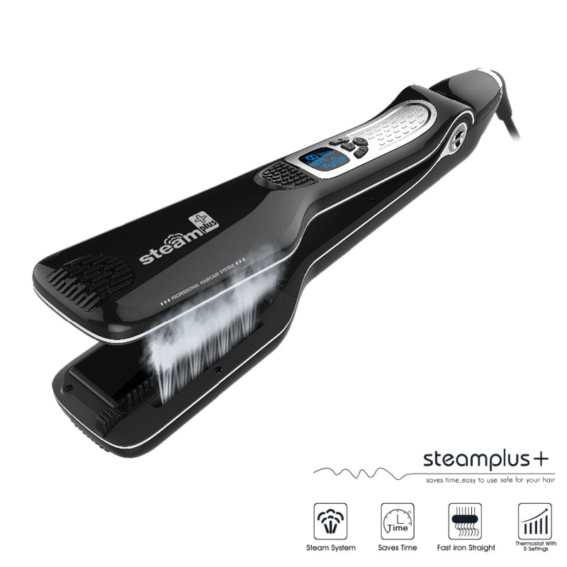 Hair Straightener iron Hair Flat Iron Professional Steampod Hair Straightener Electric Steam Hair Straightener hair straightener iron hair flat iron professional steampod hair straightener electric steam dry wet hair
