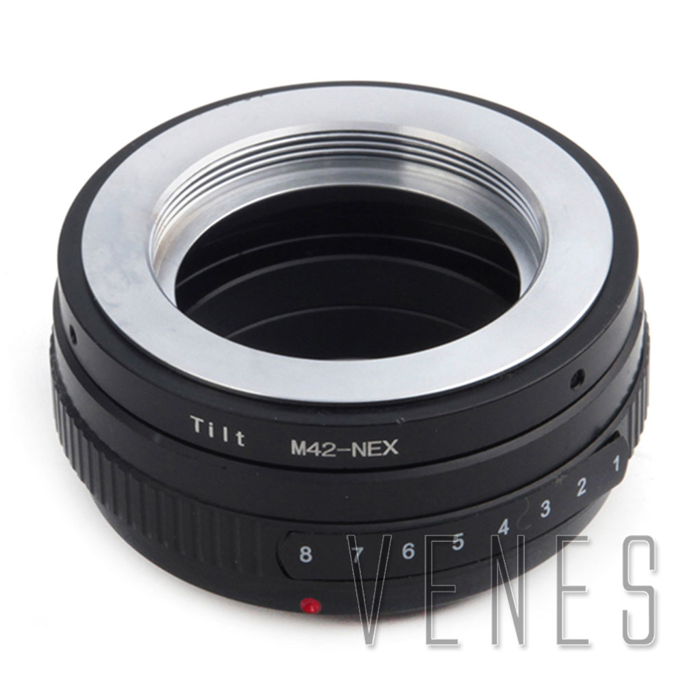 Venes M42-NEX, adaptateur d'objectif d'inclinaison pour M42 pour convenir à la bague d'adaptation Sony E Mount NEX, pour caméra Sony E Mount NEX, pour objectif M42