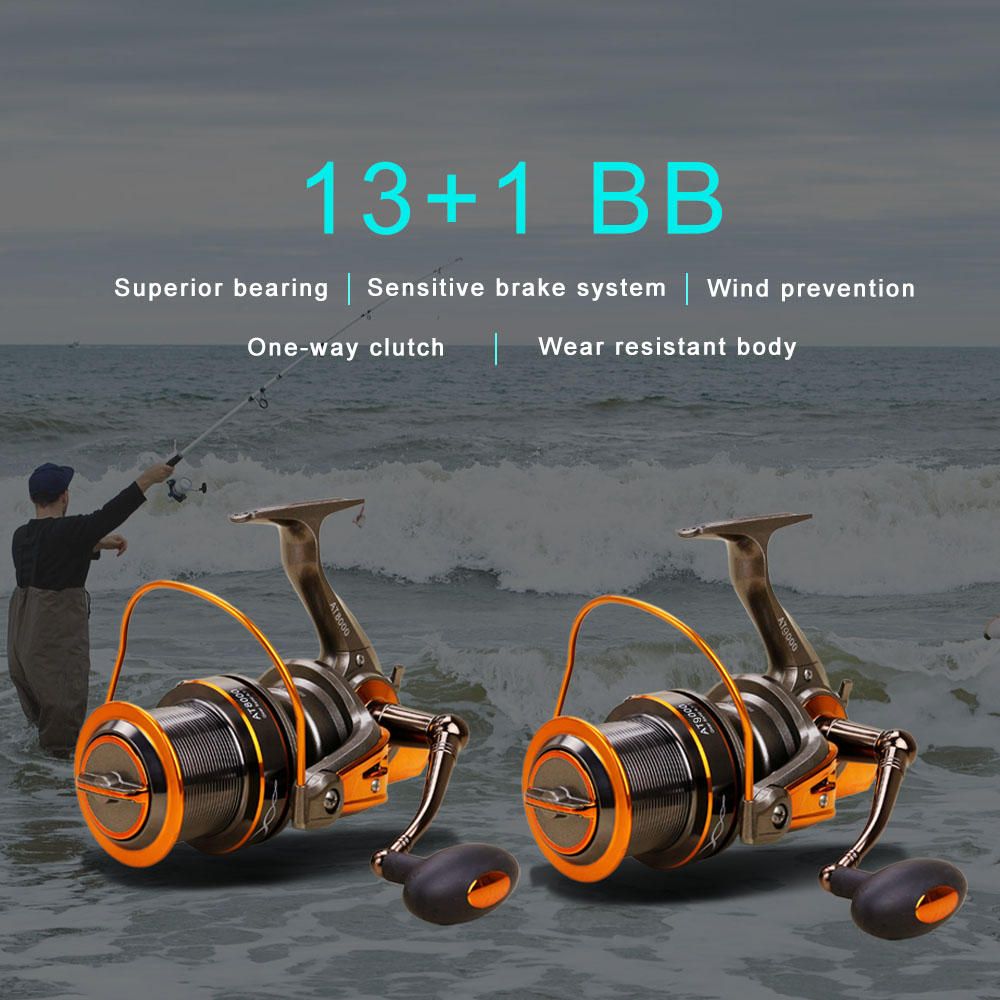 13 1 BB Fishing Reel Left Right Interchangeable Collapsible Handle Fishing Spinning Reel 4 6 1