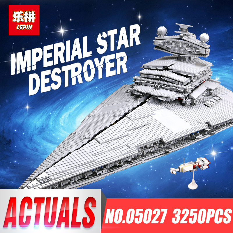 LEPIN 05027 Star Wars 3250Pcs Emperor Fighters Starship Model Building Blocks Bricks Kids Toys Compatible with LegoINGly 10030 dhl new lepin 06039 1351pcs ninja samurai x desert cave chaos nya lloyd pythor building bricks blocks toys compatible 70596
