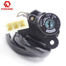 cnc motorcycle ignition switch keys with wire for kawasaki zx600a1 a3 c1 c6  ninja 600 ninja600