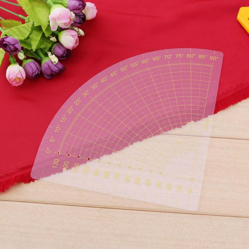 Fan Shape Ruler Foot Seam Quilting Patchwork Scrapbooking  Ruler High Quality Measuring Tool Tailor Craft DIY Sewing Ruler