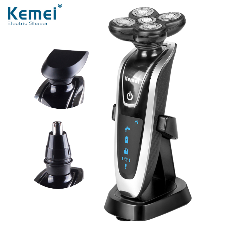 3 in 1 Washable Rechargeable Electric Shaver Waterproof IPX7 Triple Blade Electric Shaving Razors Men Face Care 5D Floating original 3 in 1 washable rechargeable electric shaver triple blade