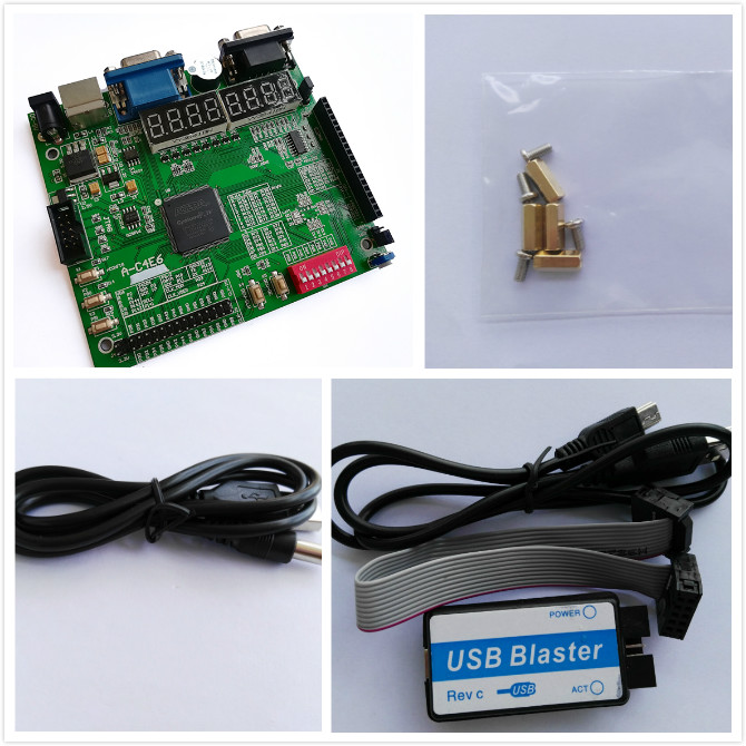 USB Blaster + altera fpga board altera kit fpga development board EP4CE6E22C8N board cyclone IV board hf carbon film resistors led development board kit multicolored