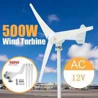 Max 500W Power 3 Blades Wind Turbine Generator Kit AC 12 24V Waterproof Generator