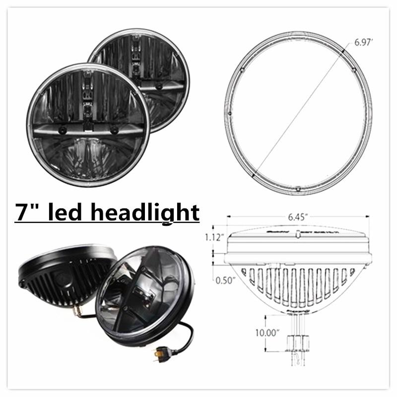 2X 7 inch 80W H4 Round LED Headlight for 97-16 Wrangler JK CJ TJ Light led light2X 7 inch 80W H4 Round LED Headlight for 97-16 Wrangler JK CJ TJ Light led light