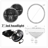 2015 New Pair 7 Inch 40W Hi Low Beam Car LED Headlight Bulb For Wrangler