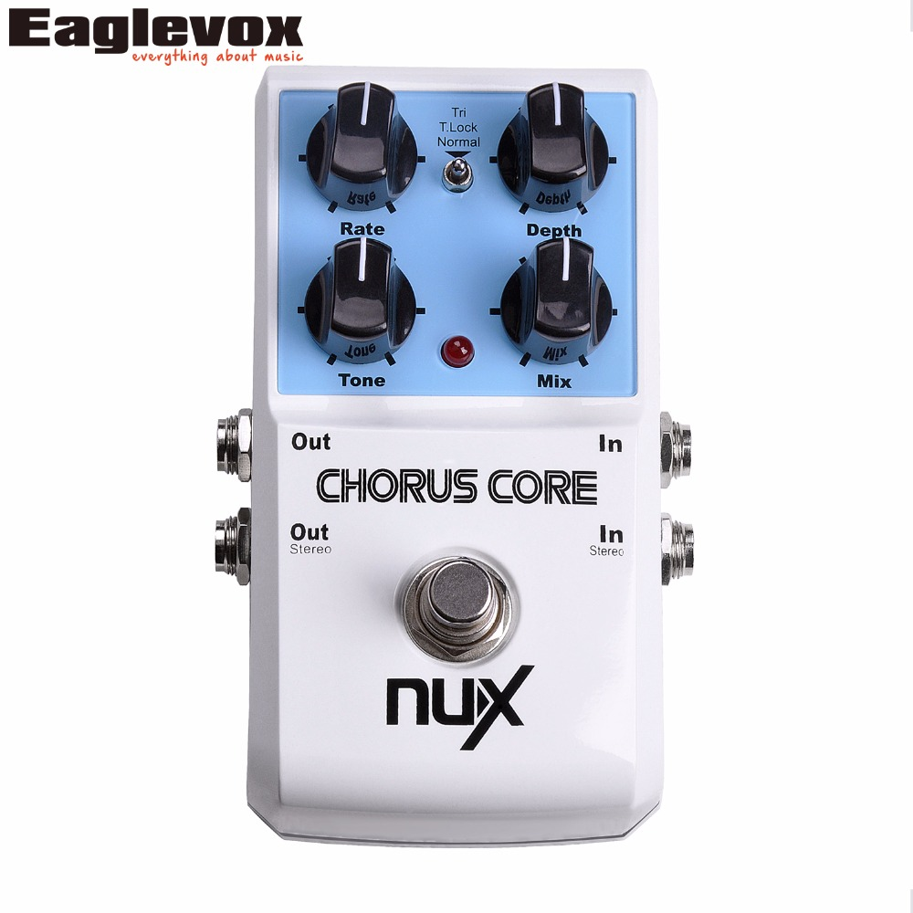 NUX Chorus Core Guitar Pedal Tri chorus Stomp Boxes Effect Pedal True Bypass Tone Lock Function Musical Instrument mooer ensemble queen bass chorus effect pedal mini guitar effects true bypass with free connector and footswitch topper