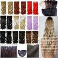 Женщин девочки довольно 24''3 / 4 клип в наращивание волос полный head черный коричневый блонд тёмно-рыжий красный 18 цвет супер