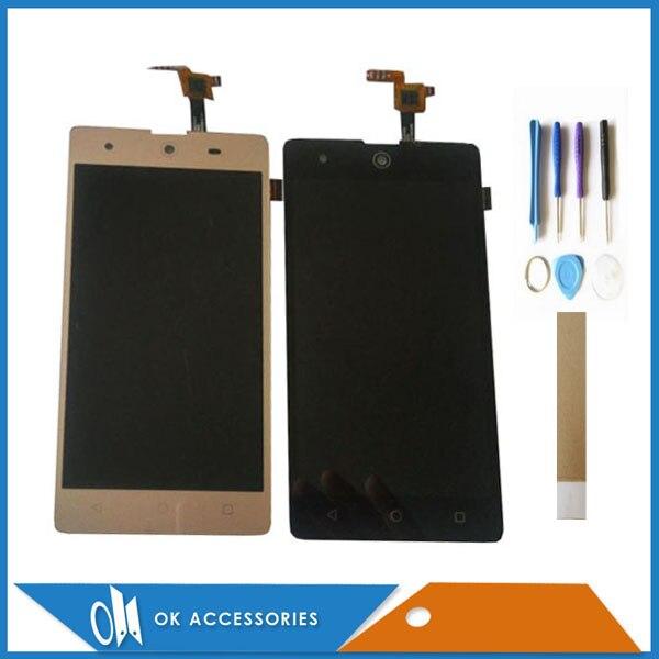 Schwarz Weiß Gold Farbe Für BQ BQS-5050 BQS5050 BQS 5050 Strike Selfie LCD Display + Touch Screen Digitizer Mit Kits