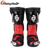 Free shipping 1pair Rinding Tribe Motorcycle Boots Offroad Motorbike MXGP Racing SPEED Sport Leather Long Boots Shoes