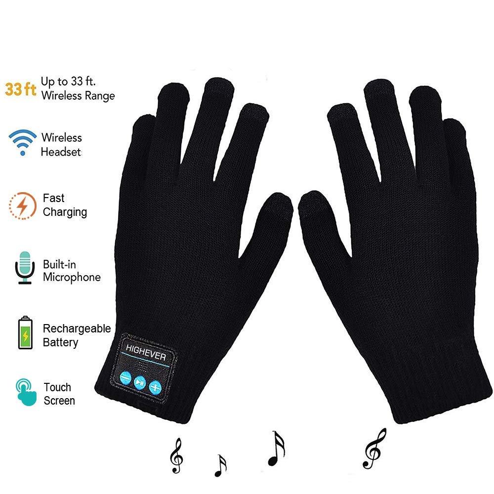 Bluetooth Wireless Kopfhörer handschuhe, Winter Stricken handschuhe mit Bluetooth Kopfhörer, Geschenke Sowohl für Frauen und Männer