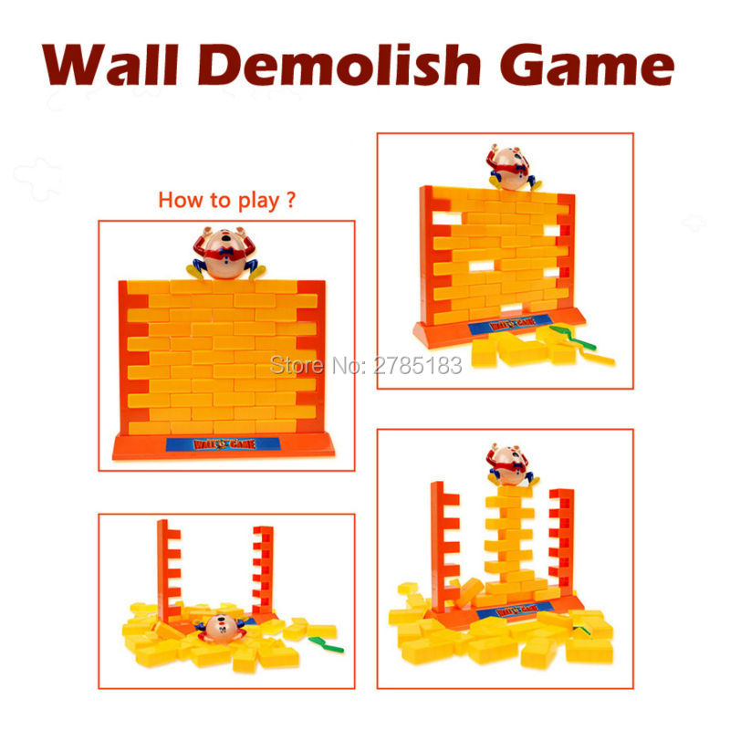 Wall demolish game creative Parent-Child interactive toy play game Humpty Dumpty's Wall family Game Educational Toys for Kids multi function parent child play toys fishing electric toys blue pink