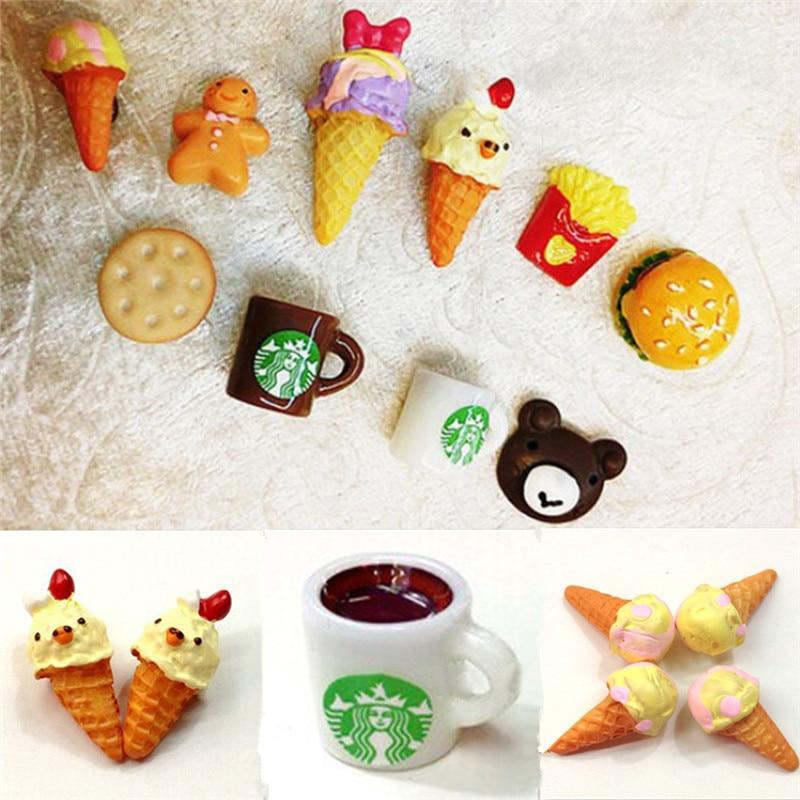 2pc 1 Pair Lovely cartoon Handmade Resin font b Food b font Stud Earrings Ice Cream