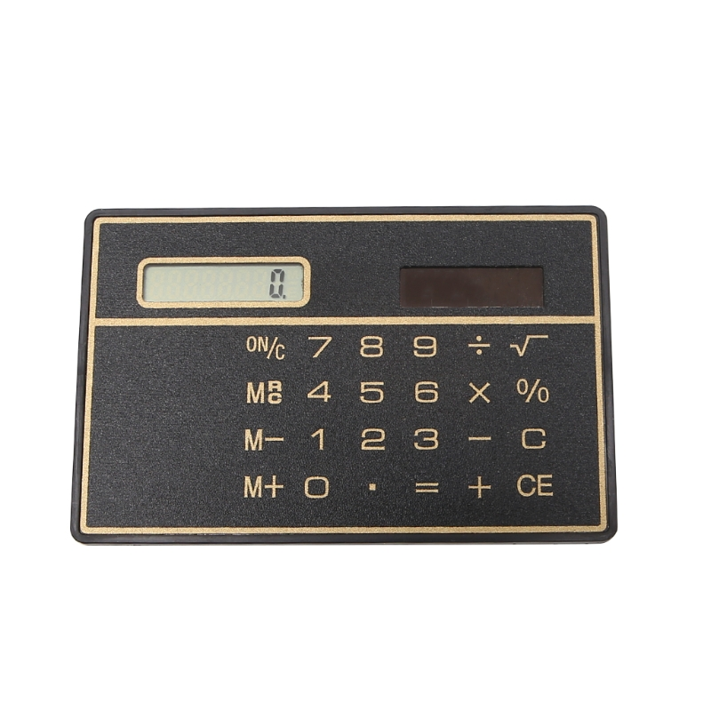 Ultra Thin Scientific Calculators Mini Credit Card Sized 8 Digit Solar Ed Pocket Calculator In From Computer Office On Aliexpress