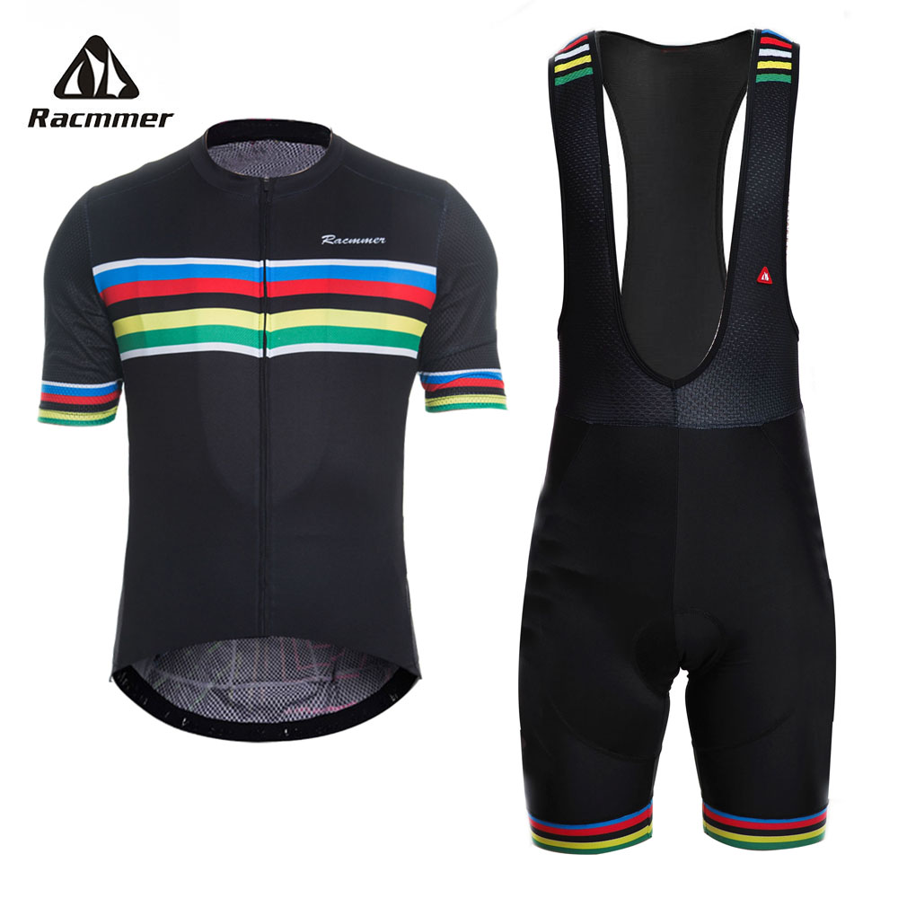 Racmmer 2019 Cycling Jersey set PRO TEAM AERO Bike Clothes Summer Bicycle Clothing Cycling Set Maillot Conjunto Ropa Ciclismo