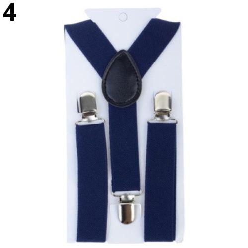Lovely Kids Adjustable Clip-On Braces Boys Girls Y-Back Suspender Child Elastic Hot