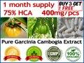 100 Caps para fornecimento de 1 mês! Garcinia cambogia suplemento da dieta da perda de peso Queimar Gordura (75% HCA) Garcinia cambogia Emagrecimento
