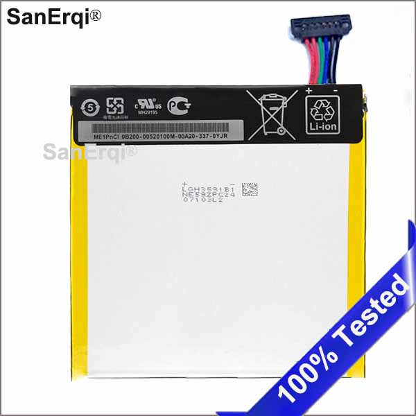 US $7 62 |3950mAh C11P1304 Replacement Tablets Battery For Asus MEMO PAD HD  7 ME173X HD7 ME173 K00B Lithium Polymer BatteriesSanErqi-in Tablet