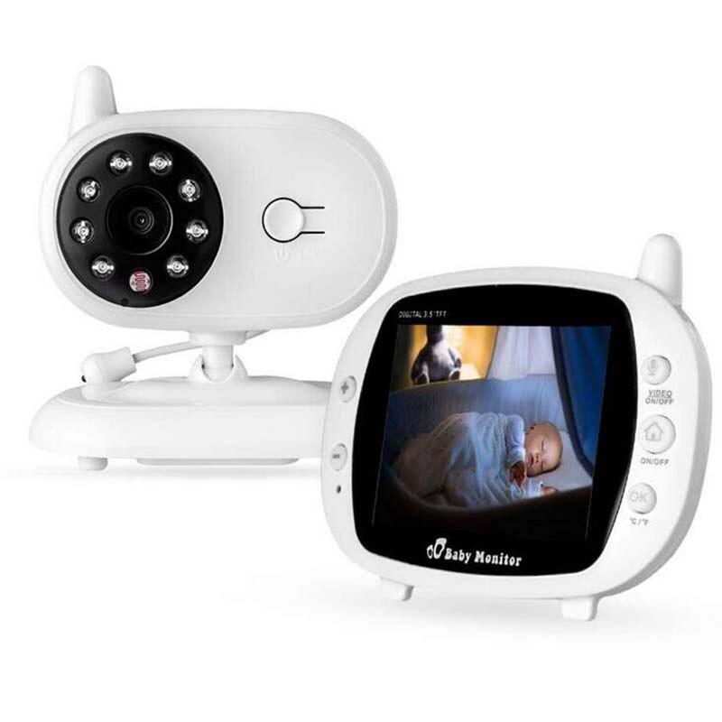 Moniteur de bébé vidéo sans fil TFT LCD 3.5 pouces avec Vision nocturne moniteur de sommeil de bébé TFT caméra bébé vidéo numérique nounou garde d'enfants