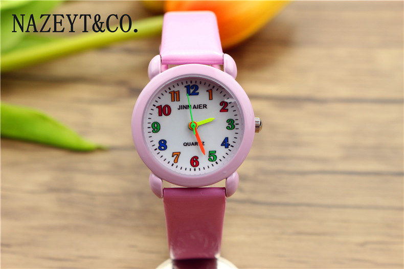 Gift El Reloj Clock Back To Search Resultswatches Free Shipping Little Boys And Girls Lovely Flower Dial Jelly Leather Watch Kids Learn To Time Colorful No