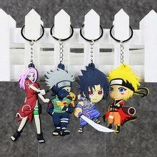 9cm 4styles Hot Anime Naruto Kakashi Sakura Sasuke Naruto PVC action figure Model Toys Pendant Key Chains Doll