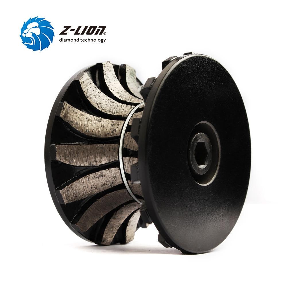 Z LION V30 Segmented Diamond Router Bit Full Bullnose Profiling Wheel For Hand Tool Granite Marble Router Cutter With Thread M10