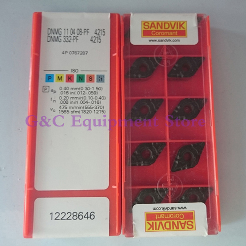 New DNMG110408PF 4215 Carbide Inserts 10PCS BOX DNMG 11 04 08 PF 4215 DNMG 332 PF