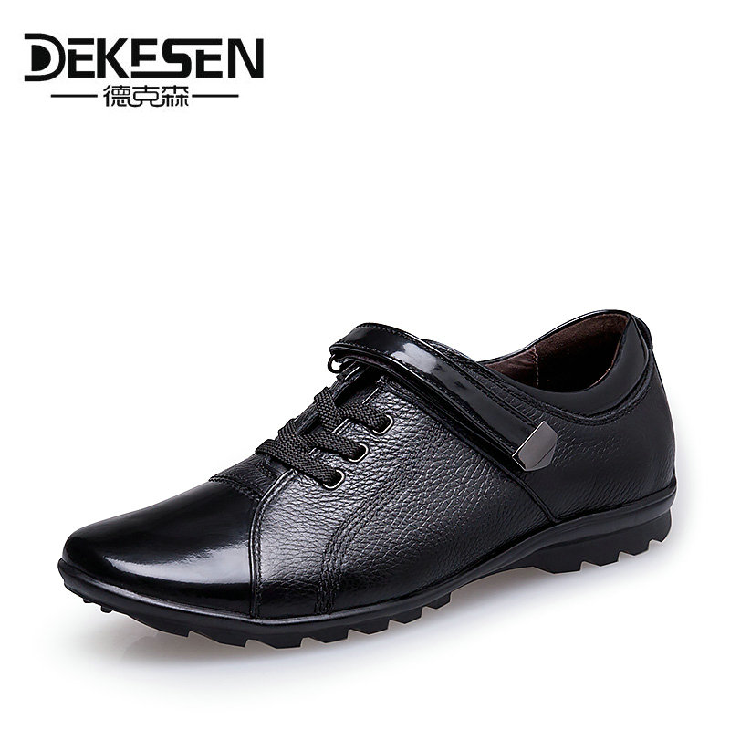Dekesen Brand Mens Casual Shoes Loafers Tenis Masculino High Quality Men Genuine Leather Shoes Leather Shoes Plus Size 38~47 dekesen hot sale brand camel genuine leather men shoes casual soft working oxford for men big size mens walking flats shoes