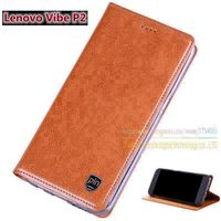 Top Quality Genuine Leather Magnetic Stand Flip Cover For Lenovo Vibe P2 5 5 Original Brand