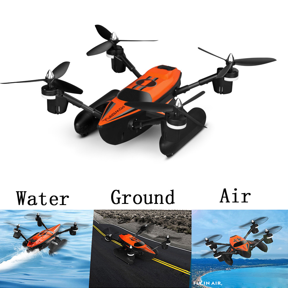 WLtoys Q353 Triphibian 2.4G 6-Axis Gyro Air-Ground-Water RC Quadcopter Headless Mode RTF Drone black and orange Helicopter wltoys q222 quadrocopter 2 4g 4ch 6 axis 3d headless mode aircraft drone radio control helicopter rc dron vs x5sw