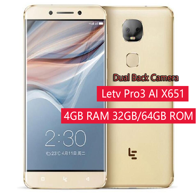 Original Letv Pro3 AI X651 Deca Core Mobile Phone 13.0MP Dual Back Camera <font><b>smartphone</b></font> <font><b>4GB</b></font> <font><b>RAM</b></font> 32GB/<font><b>64GB</b></font> ROM Cell phones image